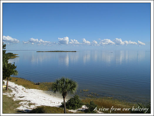 Another view from our balcony in Cedar Key, Florida